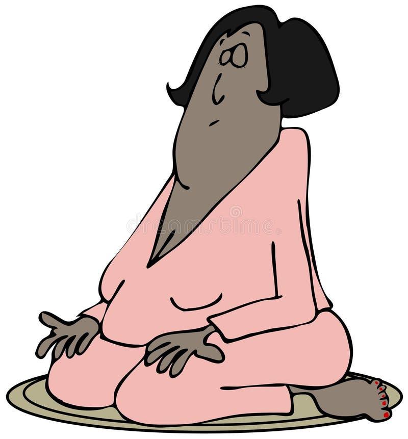 Het Mediteren Van Vrouw Stock Afbeelding