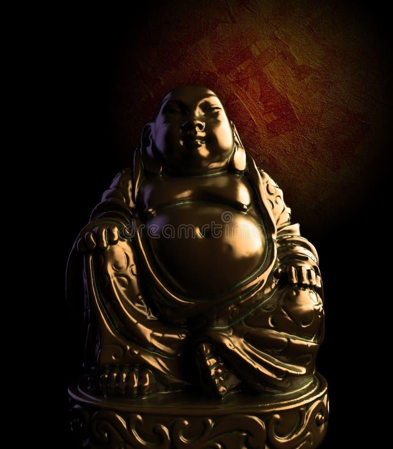 Het mediterende Standbeeld van het Brons van Boedha stock illustratie