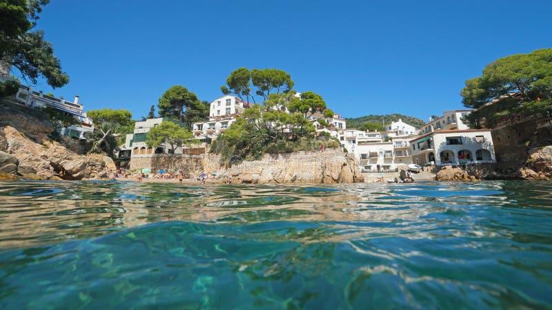 Het Mediterrane dorp Fornells DE Mar van Spanje royalty-vrije stock foto's