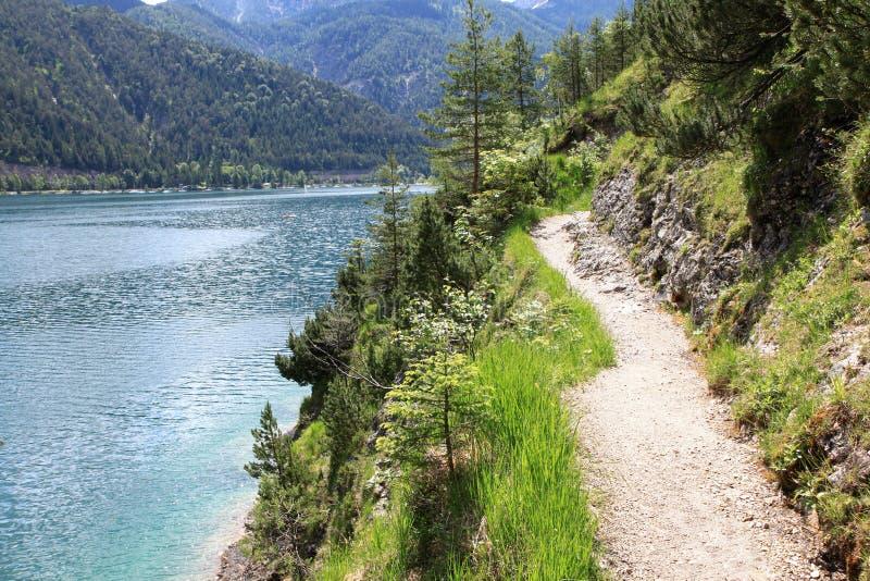 Het meer Achensee in Tirol, Oostenrijk royalty-vrije stock foto