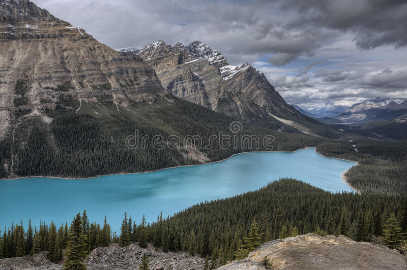 Het Meer Alberta Canada van Peyto royalty-vrije stock fotografie