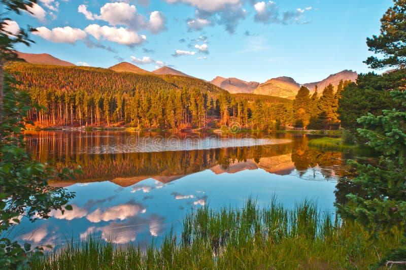Het Meer Colorado van Sprague stock afbeelding