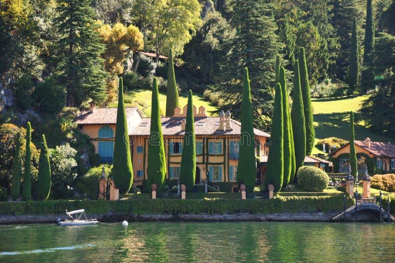 het meer Como Italië van de beroemdheidsvilla royalty-vrije stock foto