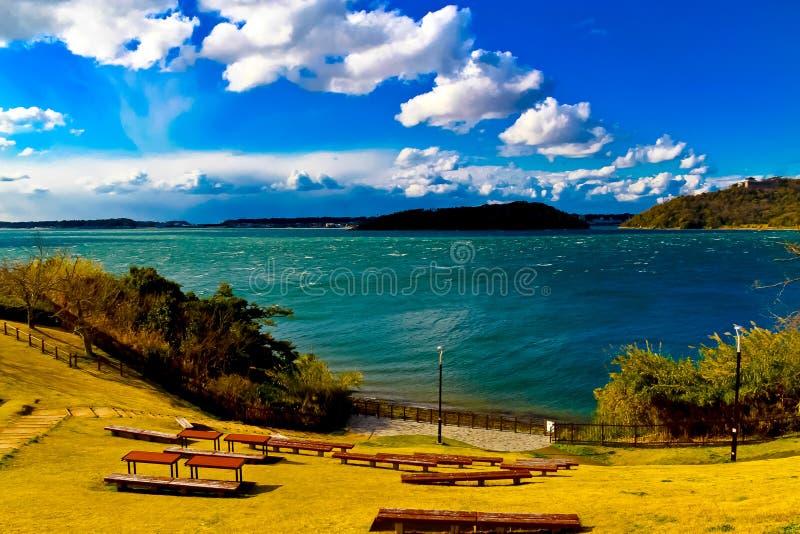 Het meer Hamana in de Prefectuur van Shizuoka is het tiende grootste meer van Japan royalty-vrije stock foto