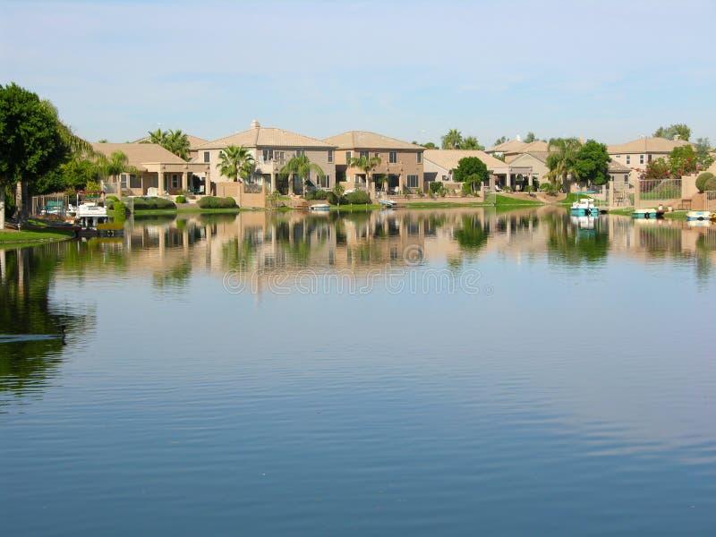 Het meer huisvest 2 royalty-vrije stock foto's