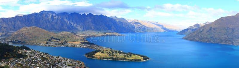 Het meer Nieuw Zeeland van Queenstown royalty-vrije stock afbeeldingen