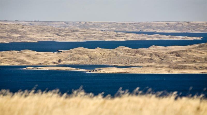 Het Meer Saskatchewan van Diefenbaker stock foto