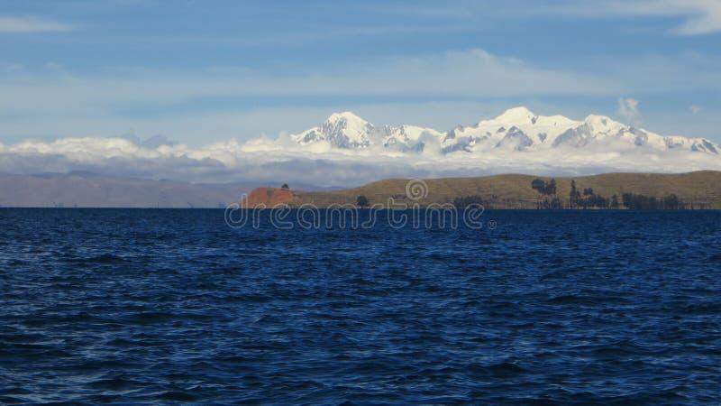 Het meer Titicaca, Zoneiland van Bolivië stock afbeelding