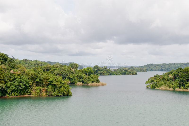 Het meer toneelPanama van Gatun royalty-vrije stock foto's