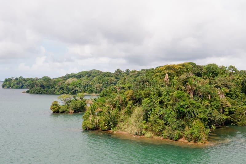 Het meer toneelPanama van Gatun stock fotografie