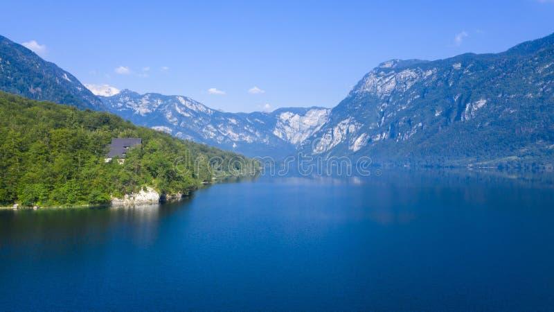Het meer van Bohinj in Sloveni? stock afbeeldingen