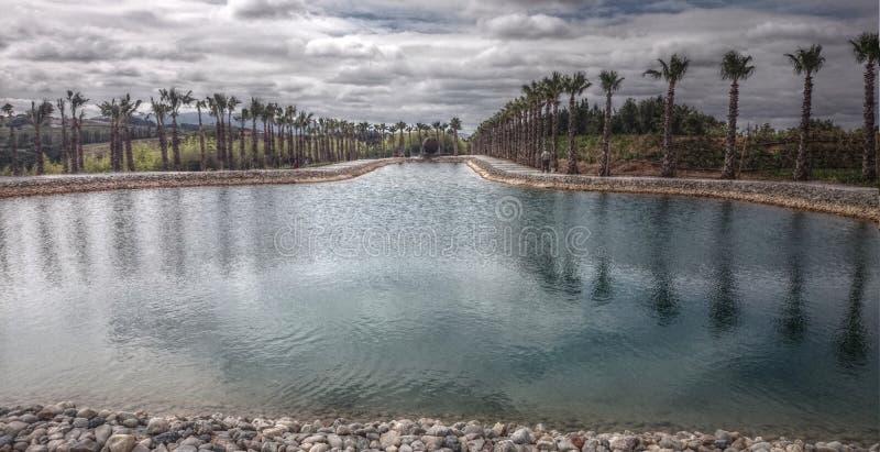 Het meer van Budhaeden in Bombarral stock afbeelding