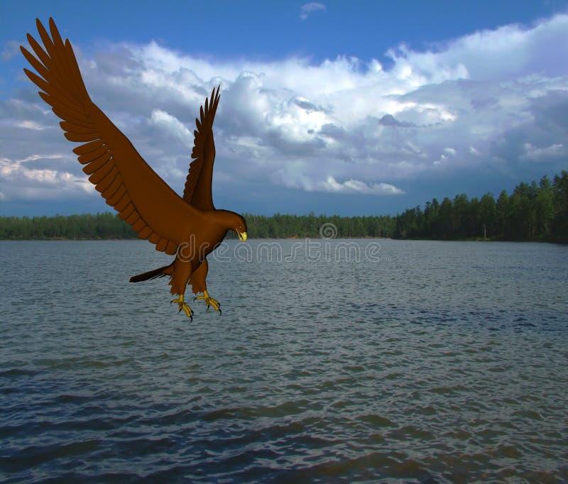Het Meer van de adelaar royalty-vrije illustratie