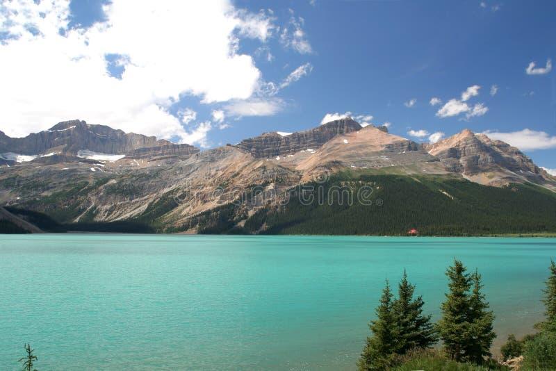 Het Meer van de boog, Canada stock foto's