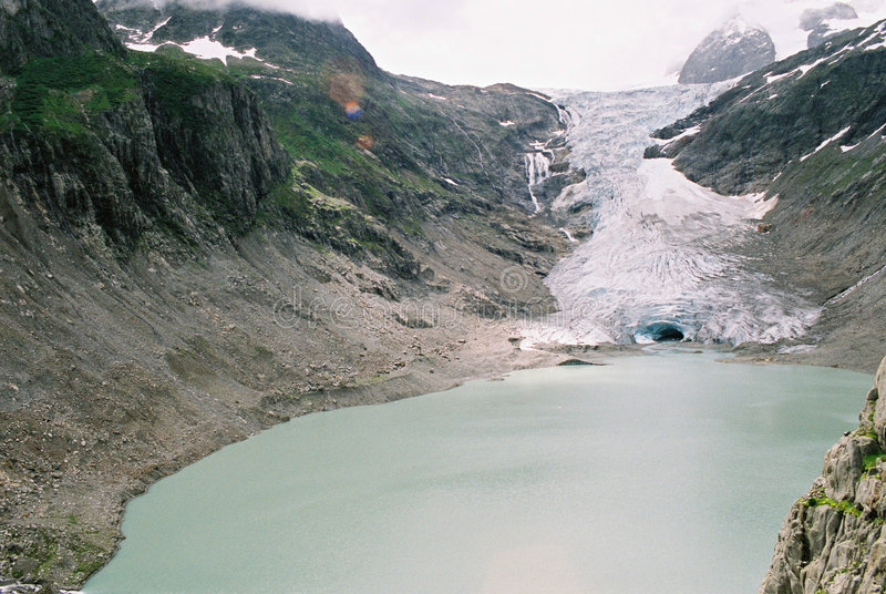 Het meer van de gletsjer stock afbeelding
