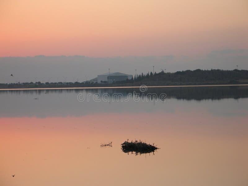 Het meer van de hemel royalty-vrije stock foto