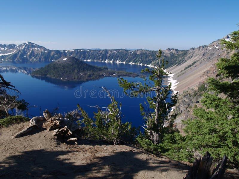 Het Meer van de krater stock afbeeldingen