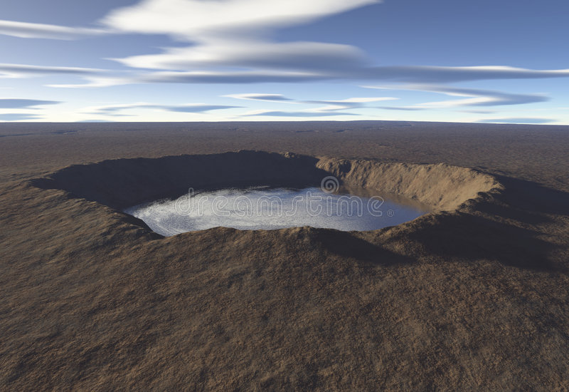 Het Meer van de krater royalty-vrije illustratie