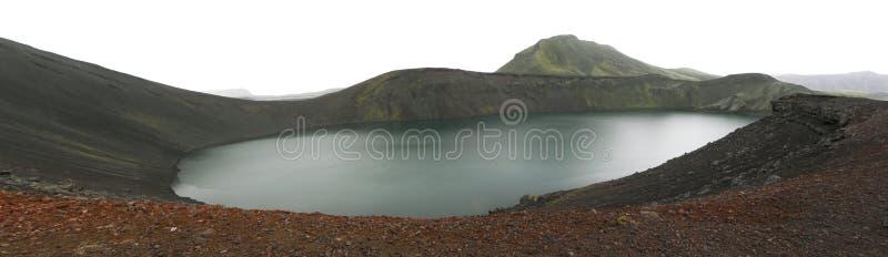 Het meer van de krater in IJsland stock foto's