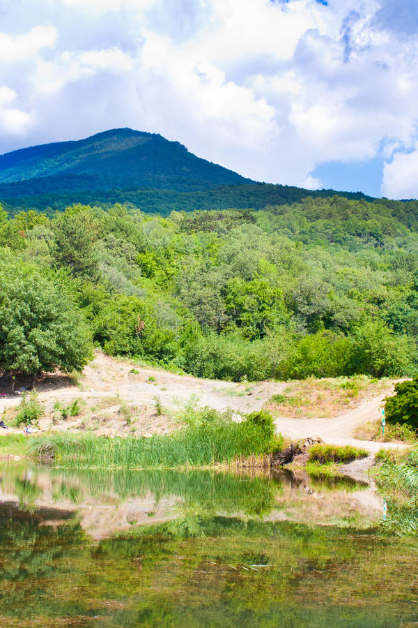 Het meer van de Krim royalty-vrije stock fotografie