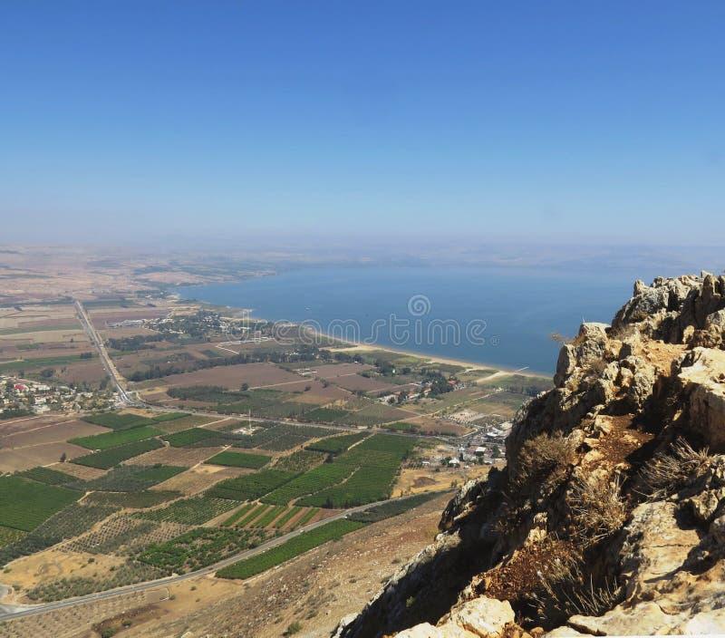 Het meer van Galilee Kineret stock fotografie