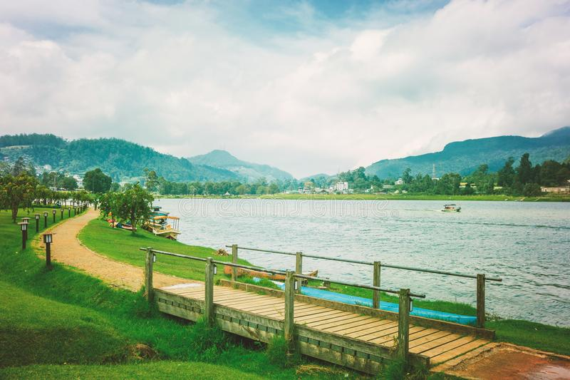 Het meer van Gregory in Nuwara Eliya stock foto