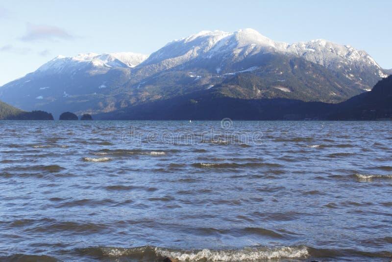 Het Meer van Harrison en zet Breakenridge op stock afbeelding