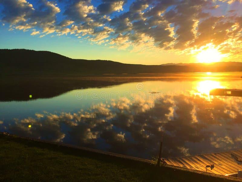 Het meer van Hebgen royalty-vrije stock afbeelding