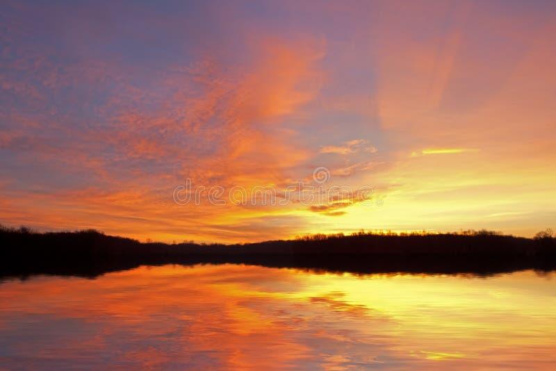 Het Meer van het Gat van Jackson van de zonsopgang stock foto