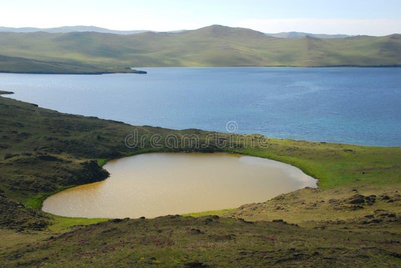 Het meer van het hart stock fotografie