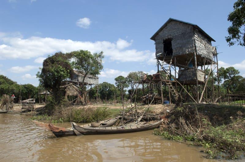 Het Meer van het Sap van Kambodja Tonle dichtbij Siem oogst stock afbeelding