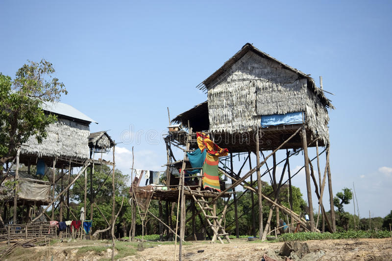 Het Meer van het Sap van Kambodja Tonle dichtbij Siem oogst royalty-vrije stock fotografie