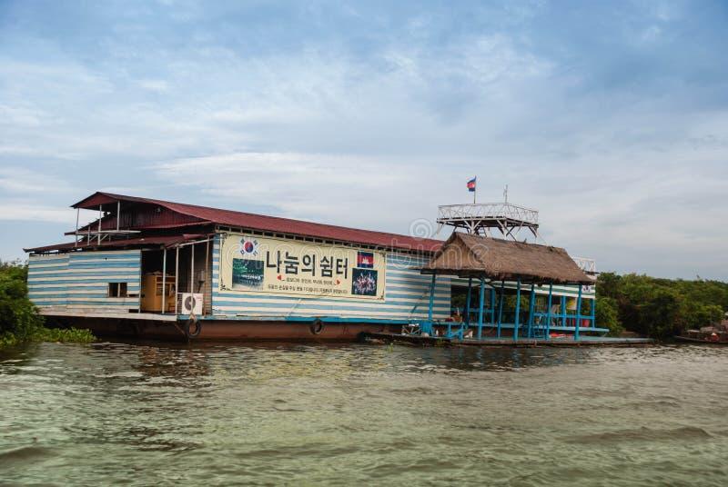 Het meer van het Sap van Tonle, Kambodja stock afbeelding