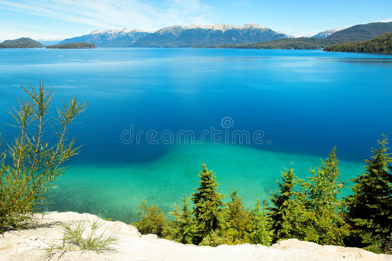 Het Meer van Huapi, Argentinië, Zuid-Amerika stock fotografie