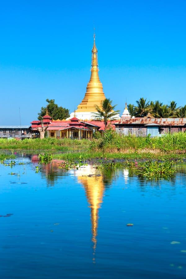 Het Meer van Inle, Myanmar. stock foto