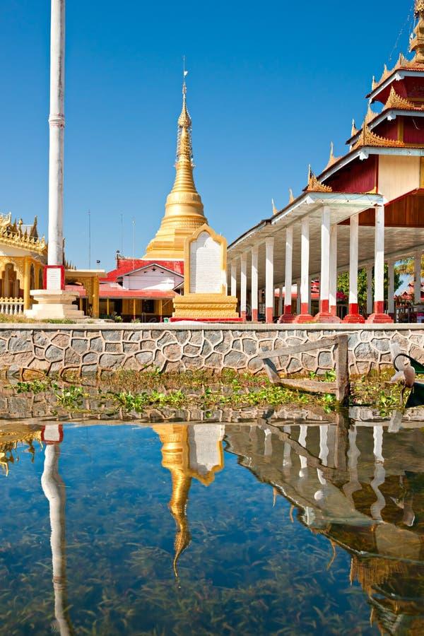 Het meer van Inle, Myanmar. royalty-vrije stock fotografie