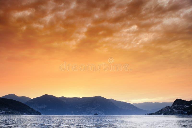 Het Meer van Iseo stock afbeelding