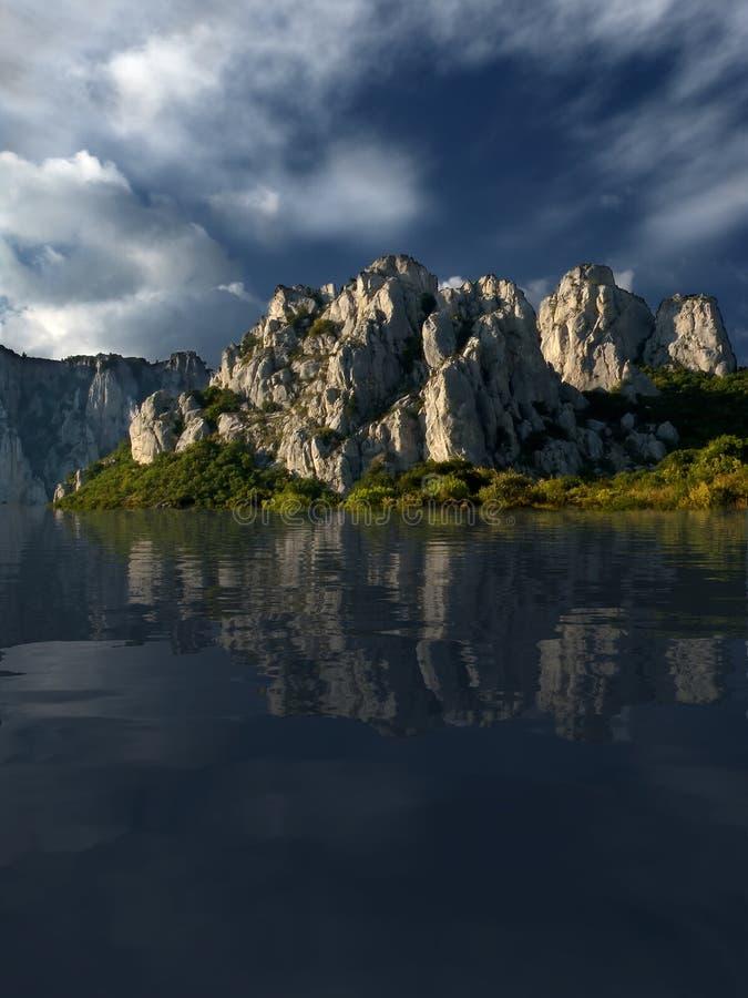 Het meer van kalmte stock afbeelding