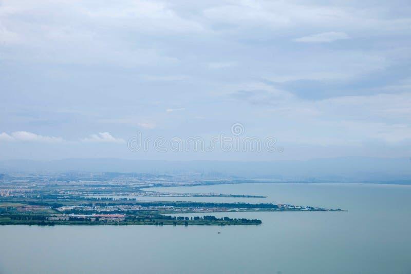 Het Meer van Kunmingsdianchi stock afbeeldingen