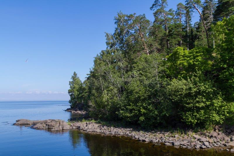 Het Meer van Ladoga stock afbeelding