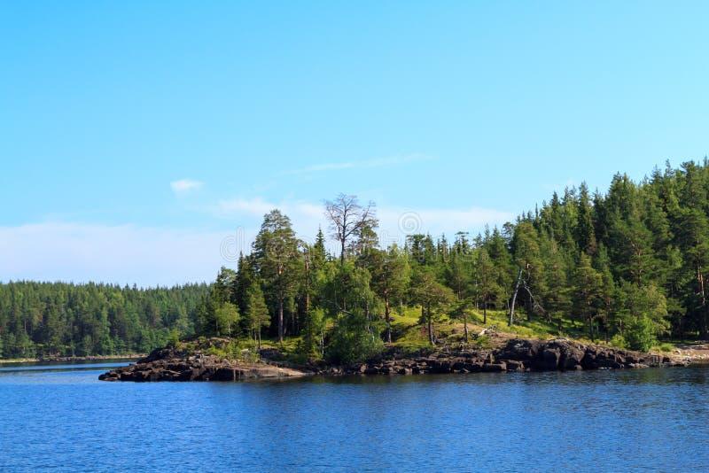 Het Meer van Ladoga stock fotografie