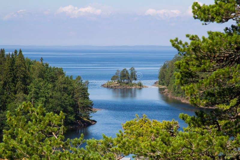 Het Meer van Ladoga stock afbeeldingen