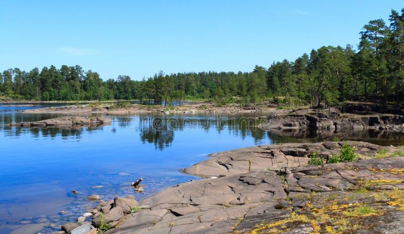 Het Meer van Ladoga royalty-vrije stock foto