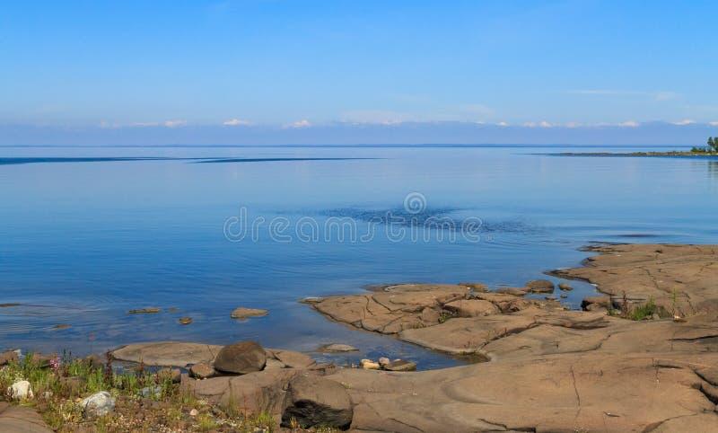 Het Meer van Ladoga royalty-vrije stock afbeeldingen