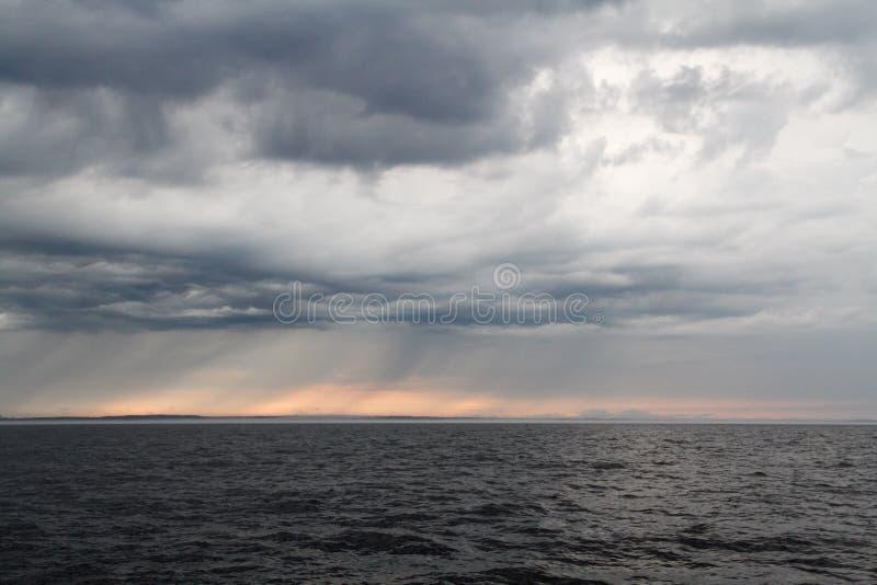 Het meer van Ladoga in Rusland stock fotografie