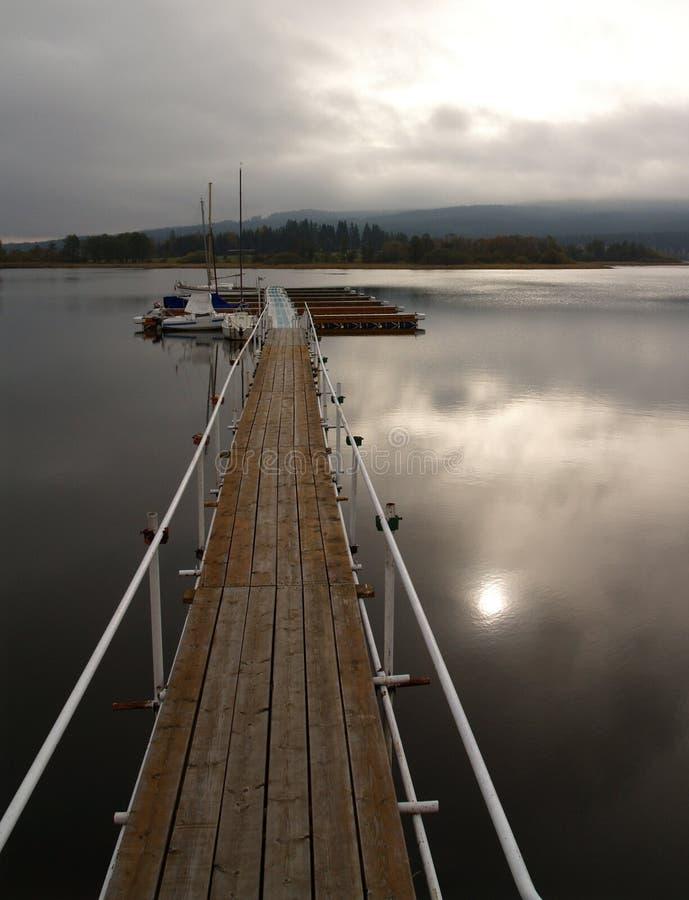 Het meer van Lipno royalty-vrije stock afbeeldingen