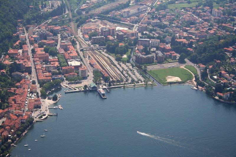 Het meer van Maggiore - Laveno Mombello stock fotografie