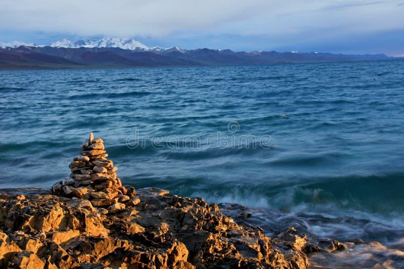 Het Meer van Namtso royalty-vrije stock afbeeldingen