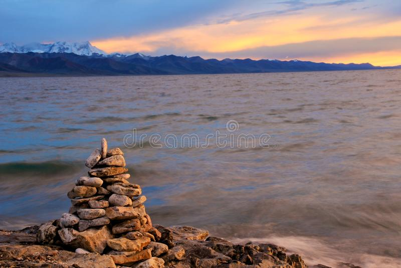 Het Meer van Namtso royalty-vrije stock foto's