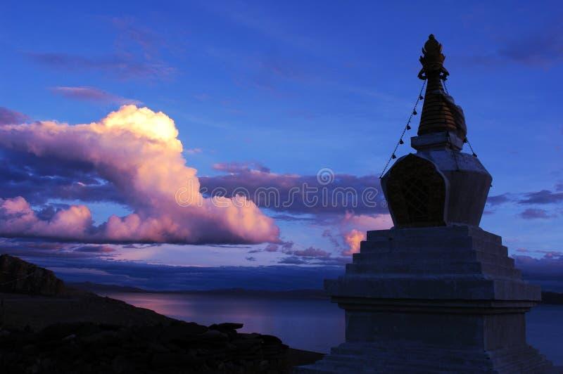 Het Meer van Namtso in Tibet royalty-vrije stock foto